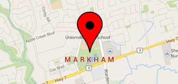 Map of Markham