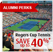 Alumni Perks - Rogers Cup Tennis 2014 - Save up to 40 per cent!