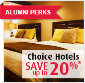 Alumni Perks - Choice Hotels - Save up to 20 per cent!