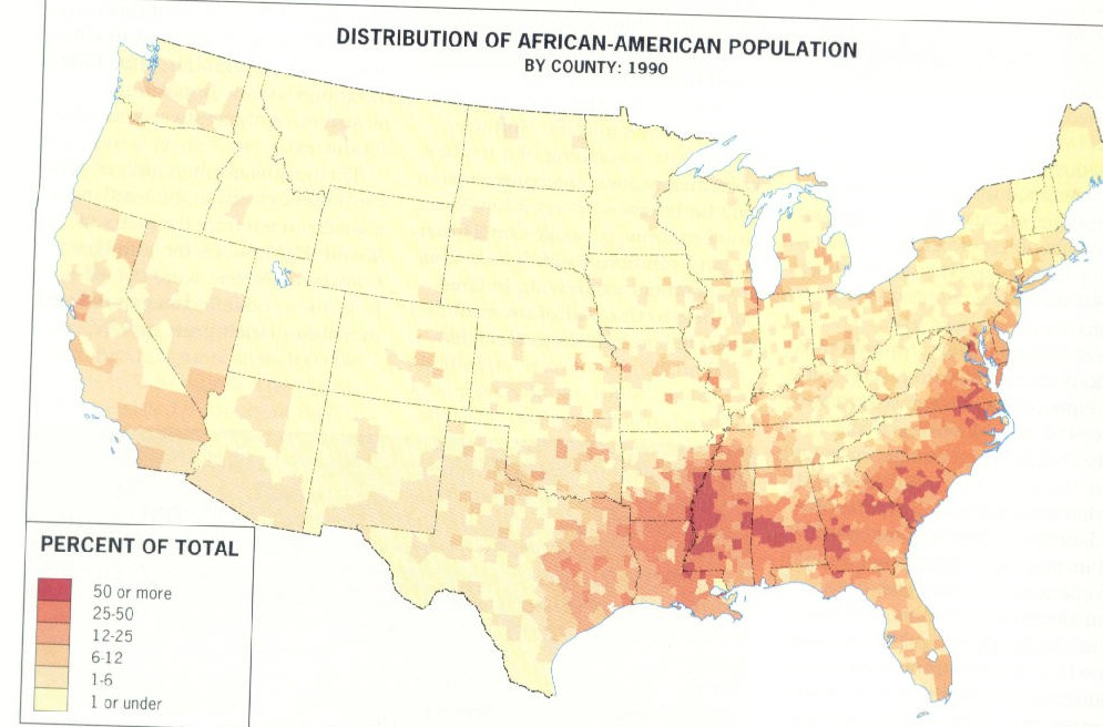 Topic - Us and canada population density map