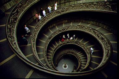 The Double Spiral Staircase in the Vatican Museums