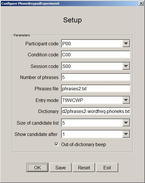 PhoneKeypadExperiment