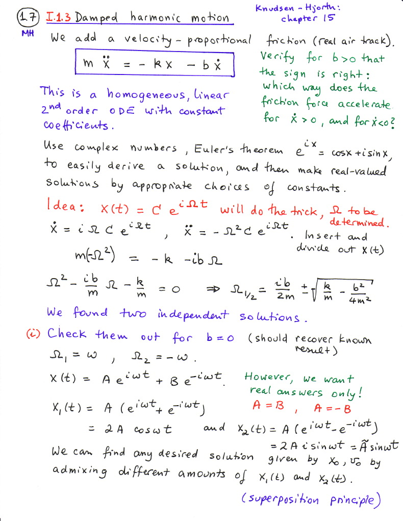 example of damped harmonic motion