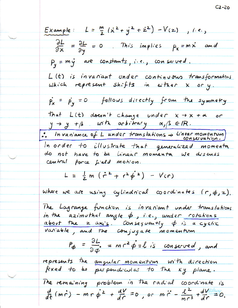 Uncategorized Conservation Of Momentum Worksheet Answers c2p20 jpg 2 6 the hamiltonian generalized momentum conservation laws