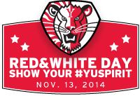 red & white day button
