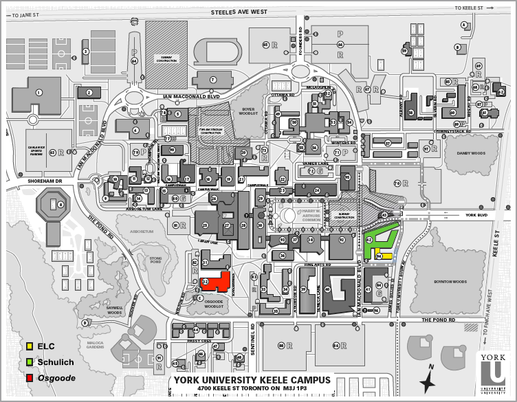 map of york university campus York University Sudan South Sudan Symposium map of york university campus