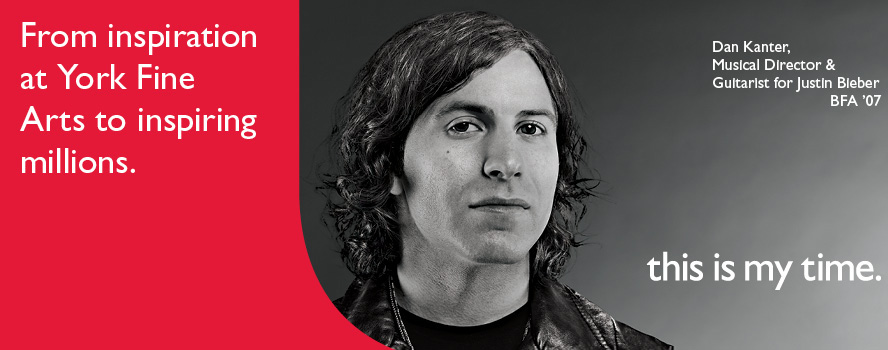 Musical Director and Guitarist for Justin Bieber, Dan Kanter is a York U alumnus inspiring millions