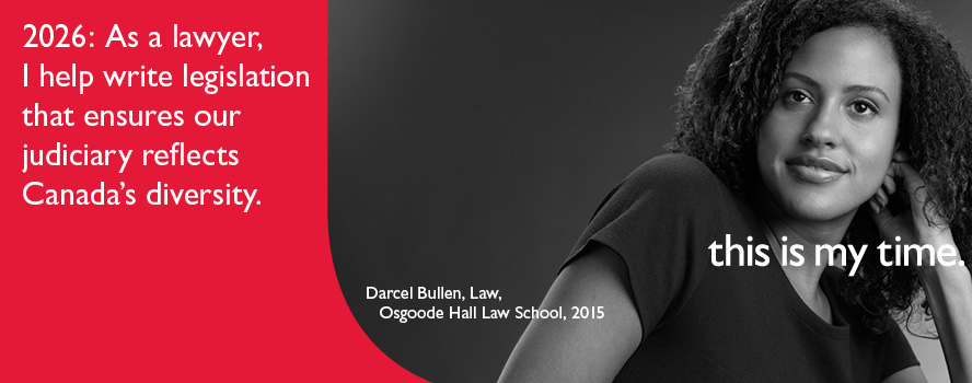 By 2026, York U student, Darcel Bullen plans to help write legislation that reflects Canada's diversity