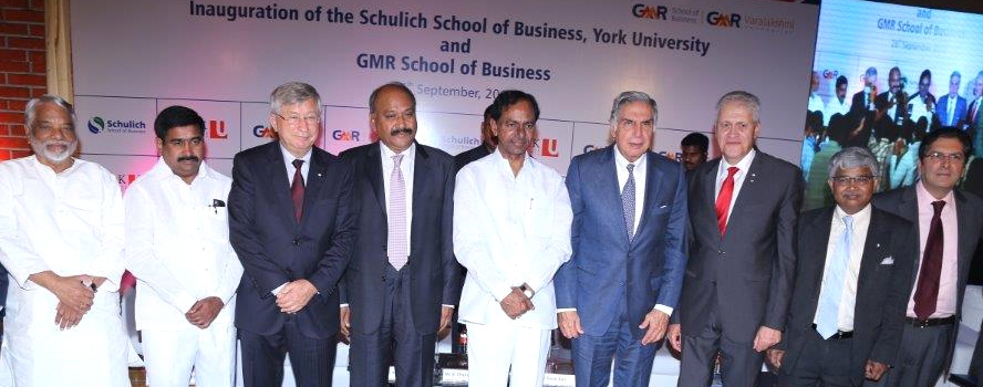 Attendees at the official opening of Schulich's new high-tech campus in Hyderabad, India
