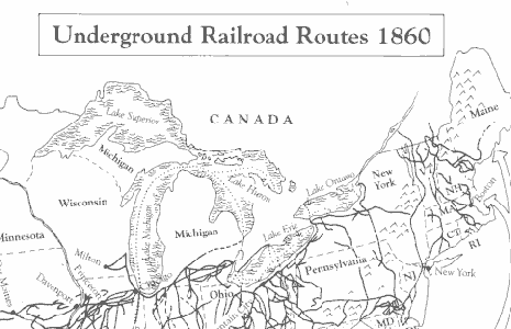 Underground To Canada Map The African Canadian Literature Project: Elementary Teacher Lesson