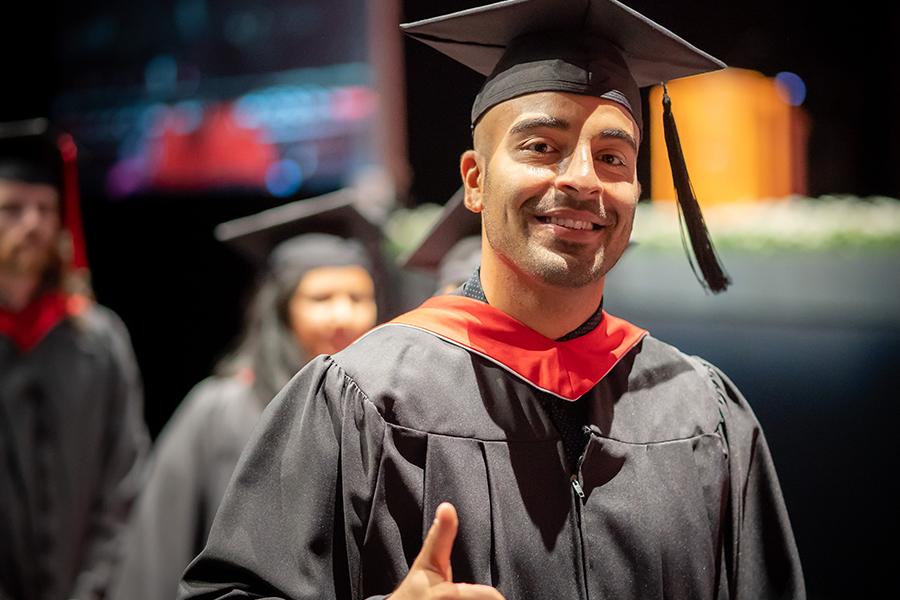 York University graduate at convocation ceremony
