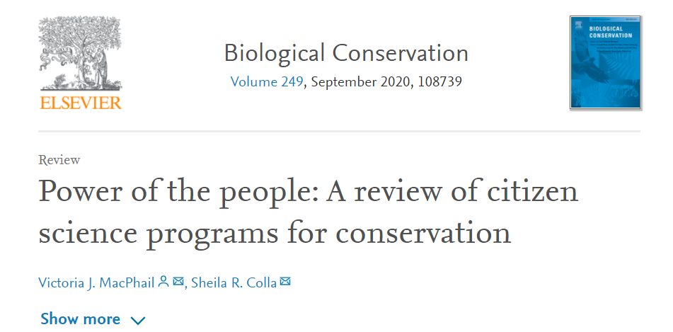 "Read ""power of the people: a review of citizen science programs for conservation"""