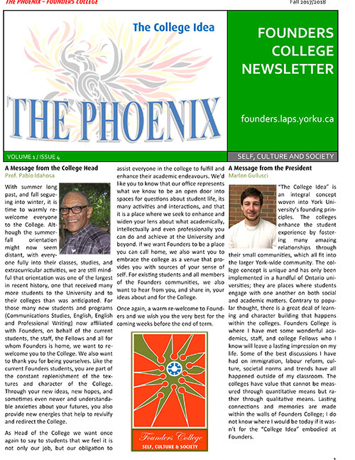 The Phoenix Vol 1 Issue 4 cover page
