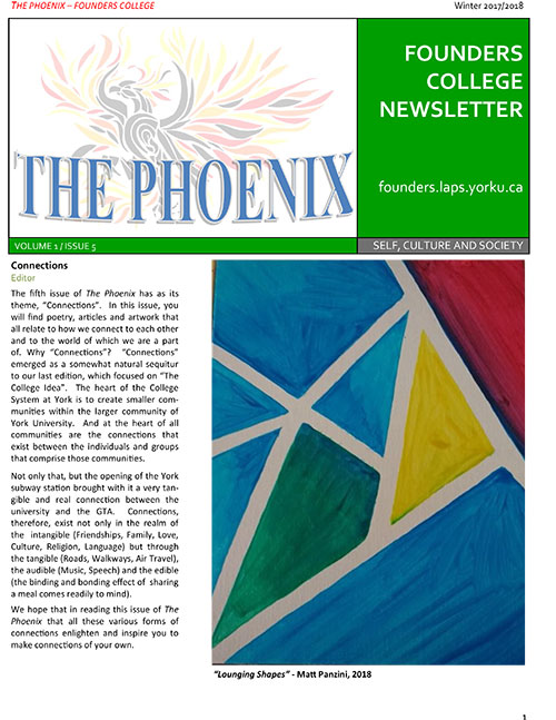 The Phoenix Vol 1 Issue 5 cover page