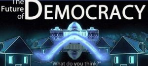 the future of democracy poster