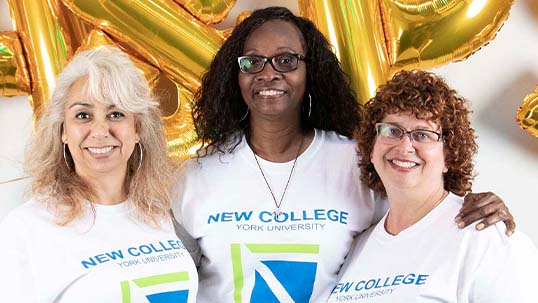 three staff members of new college
