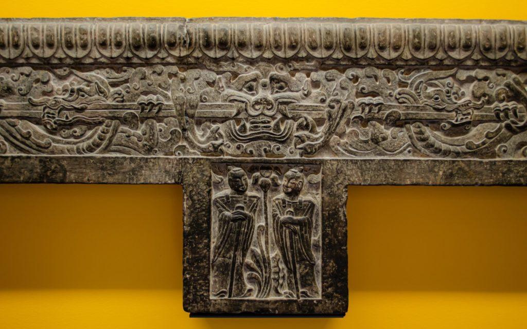 Detail of decorative sculptural relief