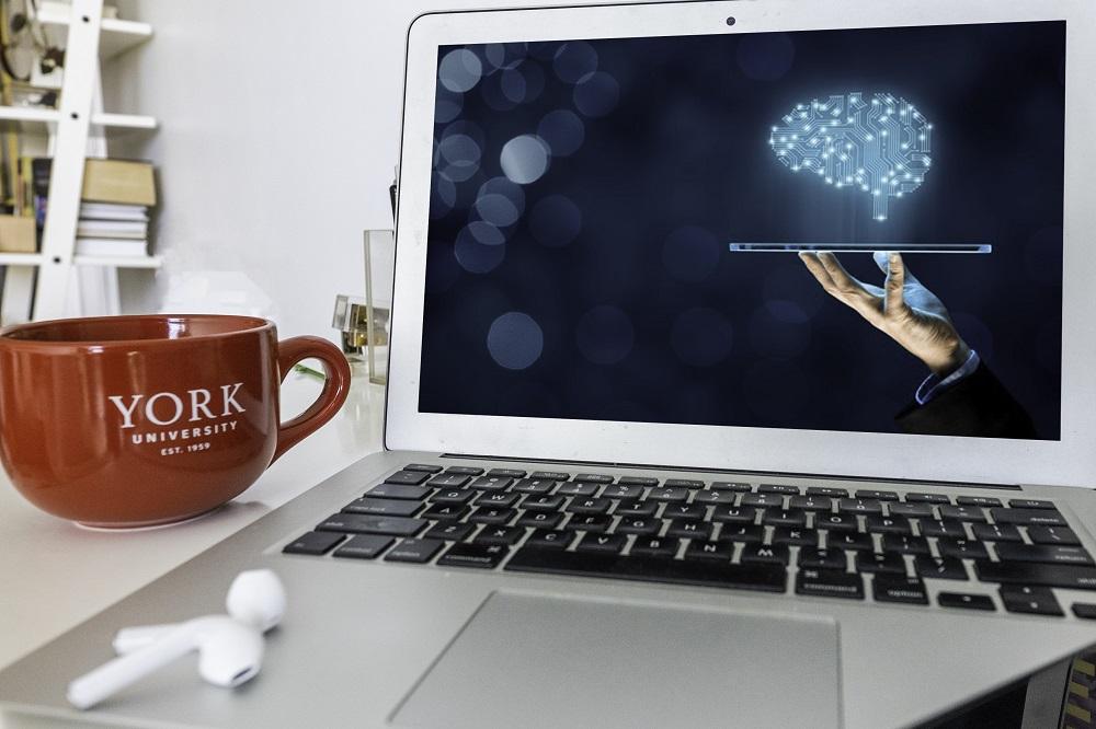 computer on desk