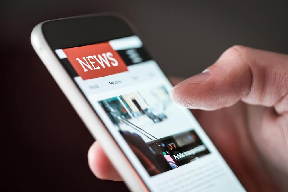 news website on phone