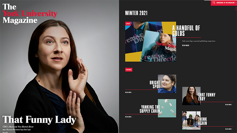 thumbnail of digital magazine contents page