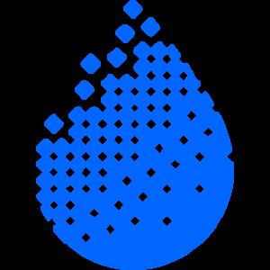 water droplet in pixels lab logo