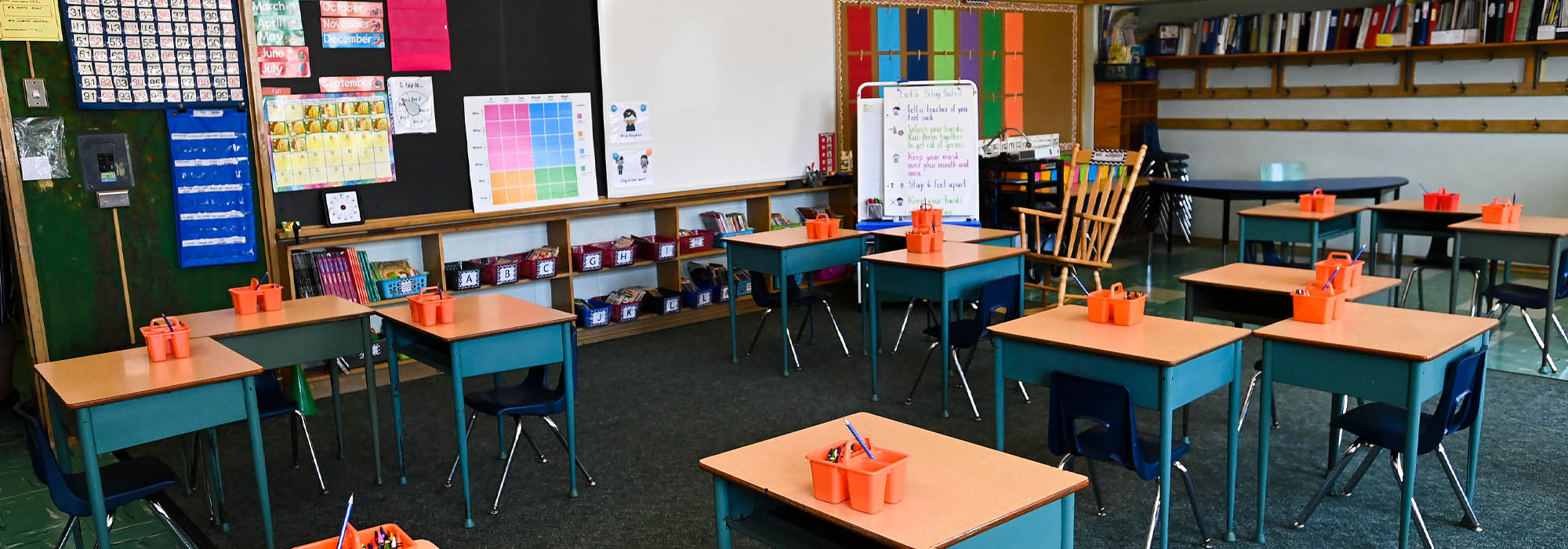 A grade two classroom is shown at Hunter's Glen Junior Public School which is part of the Toronto District School Board (TDSB)