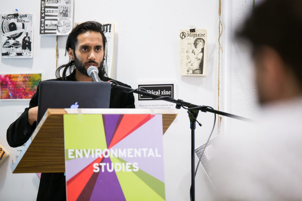 Male student presentation