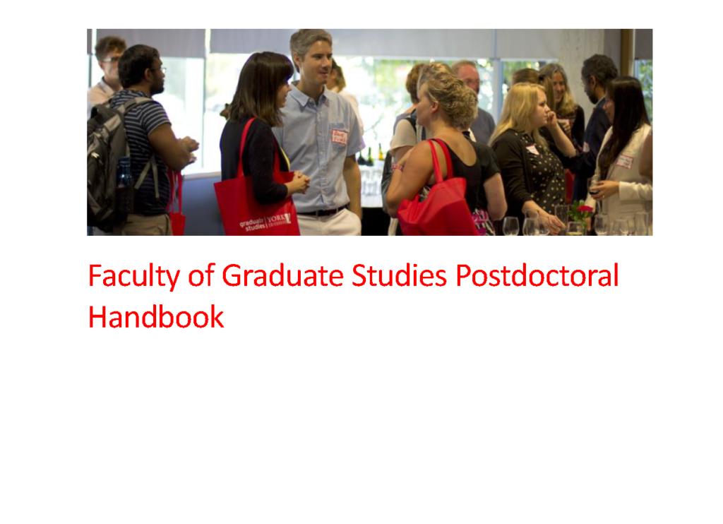 FGS Postdoctoral Handbook cover