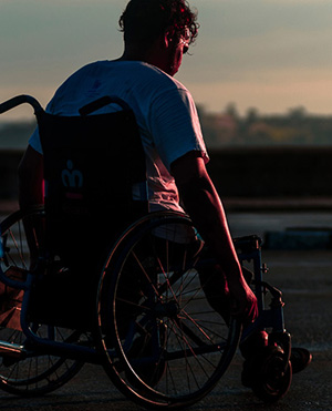 photo of a person in a wheelchair