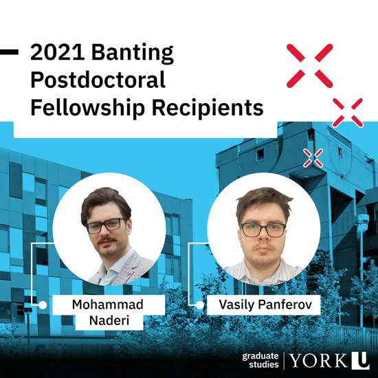 composite image promotiong the 2021 Banting Postdoctoral Fellows