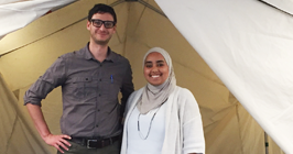 Global Health student Fatima standing in the Doctors Without Borders office