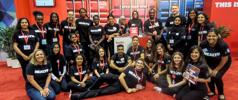 Student health ambassadors at York team