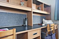 Student room with study desks