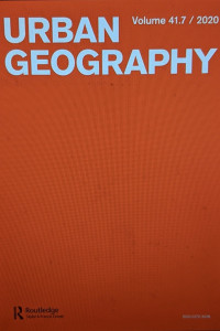 Cover Page titled Urban Geography on a Red Background