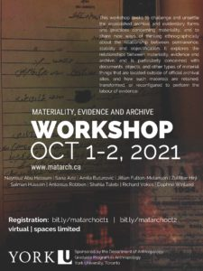 Workshop Poster with white text and YorkU logo at bottom