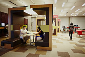 students at yorku campus study space