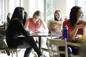 students at cafeteria table