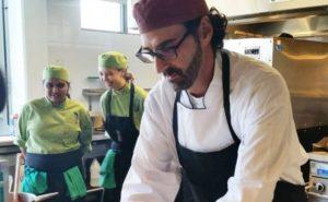 Chef Roberto Fracchioni making gnocchi