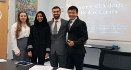 diverse team of young professional students at competition