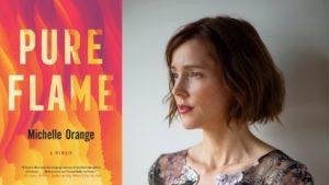 Michelle Orange profile photo next to Pure Flame book cover