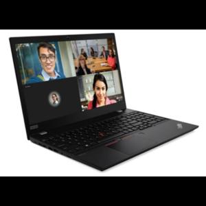 image of an open lenovo ThinkPad T15 Gen 1 laptop