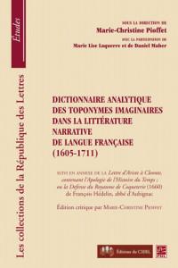 Dictionnaire analytique des toponymes imaginaires dans la littérature narrative de langue française (1605-1711) cover