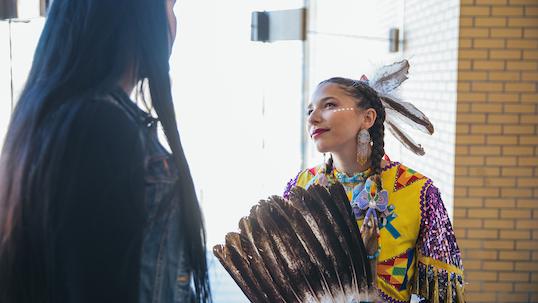 Indigenous dance performers