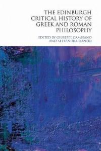 the edinburgh critical history of greek and roman philosophy