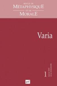 revue de metaphysique et de morale journal cover