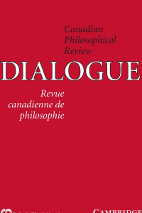 canadian philosophical review journal cover for march 2016