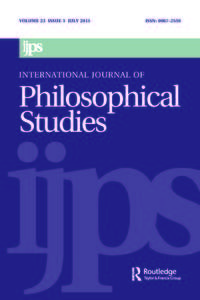 international journal of philosophical studies journal cover