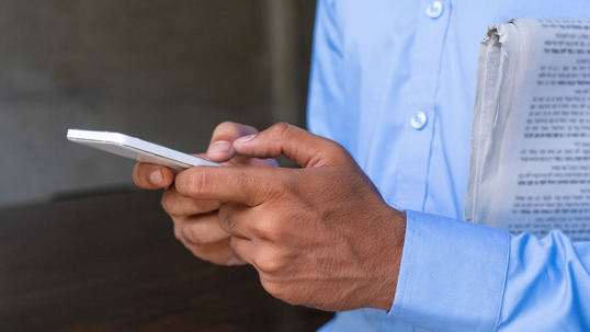 close up of person texting