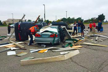 simulation of car accident