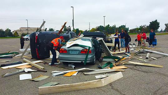 simulation of car crash